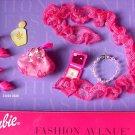 MIB BARBIE FASHION AVE HOT PINK SHOES - PURSE - BOA - NECKLACE - COMPACT!
