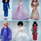 BARBIE FASHION DOLL JACKET, STOLE, HAT + SEWING PATTERN MCCALLS 2549 UNCUT