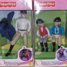 MINT IN BOX 3 DOLLS LOVING FAMILY ENGLISH RIDERS BOY/GIRL & INSTRUCTOR *gift*