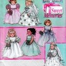 """18"""" DOLL DAISY KINGDOM WEDDING FANCY DRESSES PATTERN AM GIRL SIMPLICITY 5266"""