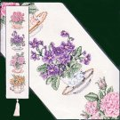 *OOP HIGH TEA FLORAL BELLPULL ELSA WILLIAMS COUNTED CROSS STITCH KIT BELL PULL