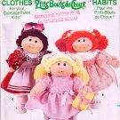 CABBAGE PATCH KIDS DOLL PATTERN + DECALS BUTTERICK 399/3659 PATTERN OOP UNCUT