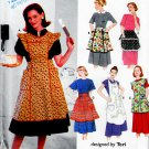 MISSES RETRO APRONS WITH & WITHOUT BIBS SIMPLICITY 8720 SEWING PATTERN