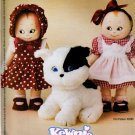 KEWPIE & DOG DOODLES DOLL PATTERN McCall's 3470 2 OUTFITS,SHOES,HAT OOP MINT UNCUT