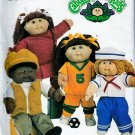 CABBAGE PATCH KID DOLL PATTERN BOY- GIRL OUTFITS SOCCER OOP UNCUT BUTTERICK 3745
