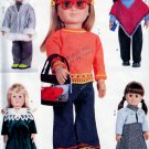 """OOP 18"""" DOLL COAT PONCHO + WARDROBE CLOTHES BUTTERICK 6855 SEWING PATTERN UNCUT"""