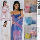 6 PURSES/ EVENING BAGS + SHAWLS MCCALLS 2530 OOP FASHION SEWING PATTERN  UNCUT