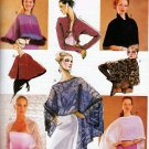 EVENING SHRUGS SHAWLS CAPELET LACE FAUX FUR + MCCALL 3033 UNCUT.PATTERN