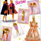 BARBIE WEDDING BABY DOLLS SWIMSUIT COAT GOWNS + DOLL PATTERN 601 SIMPLICITY OOP