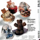 MCCALLS 5792 CRAFTS BASKET BUDDIES- CAT BEAR BUNNY SEWING PATTERN UNCUT