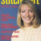 STITCHCRAFT JANUARY 1982 NEEDLEWORK CROCHET KNIT EMBROIDER VINTAGE MAGAZINE