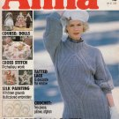 ANNA BURDA KNITTING NEEDLECRAFT SEWING CROCHET 1988 #11 NOV. DOLLS VINT MAGAZINE