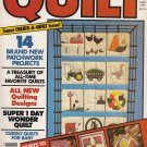 QUILT MAGAZINE SUMMER 1982 APPLIQUE STENCIL EMBROIDER PIECE FULL-SIZE PATTERNS
