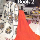AFGHAN BOOK 2 LEISURE ARTS #102 WITH 16 DIFFERENT PATTERN DESIGNS EAGLE ARAN +