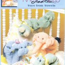 MCCALL'S TOYS FROM TOWELS CRAFT 4 BABY PIG LAMB COW HIPPO ELEPHANT HORSE BUNNY