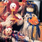 ANNIES ATTIC #87M18 EASY MOP DOLLS 12 DOLL PATTERNS BRIDE CLOWN BEAR BIRTHDAY OOP