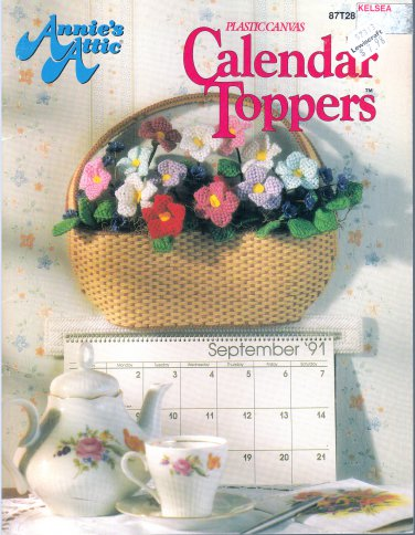 ANNIES ATTIC * CALENDAR TOPPERS! PLASTIC CANVAS HTF 1991 PATTERNS OOP