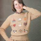 CROSS STITCH THE SWEATER BOOK LEISURE ARTS #375 COUNTRY DESIGNS