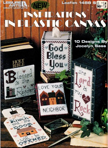 INSPIRATIONS IN PLASTIC CANVAS LEISURE ARTS #1488 CHRISTIAN RELIGIOUS DESIGNS