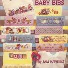 28 BABY BIBS CROSS STITCH DESIGN MOTIFS AM. SCHOOL NEEDLEWORK 3511 SAM HAWKINS