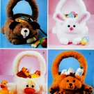 CUTE ANIMAL GIFT BASKETS *EASTER RABBIT-CHICKEN MCCALLS 3555 SEWING OOP PATTERN
