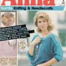 ANNA BURDA KNITTING NEEDLECRAFT SEWING CROCHET 1987 #7 JULY VINTAGE MAGAZINE