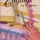 EDGINGS FOR ALL PURPOSES CROCHET COATS & CLARKS 1952 VINTAGE #288 VGC HTF