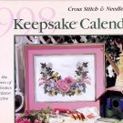 1998 CROSS STITCH KEEPSAKE CALENDAR PATTERN DESIGN CHARTS NEEDLEWORK BH &G