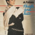 PATONS #261 HEADS & TAILS SIMPLE KNIT PATTERNS GLOVES SCARVES HATS MITTS WARMERS
