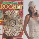 DECORATIVE CROCHET 2002 TOPS, CAP, SHIP, CURTAINS,TABLECLOTHS CAT, DOILIES+ #85