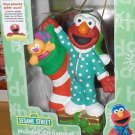 *ELMO WITH STOCKING & TOYS CHRISTMAS TREE ORNAMENT MINT IN BOX. SESAME ST MUPPET