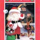 "SANTA CLAUS * FIBRE CRAFT CROCHET 14"" DOLL CLOTHES & SACK 1994 PATTERNS OOP"