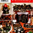 ANGEL TREE TOPPER, SILVERWARE CADDY,TREESKIRT PATTERNS SIMPLICITY 7846 UNCUT