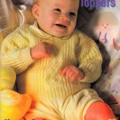 TINY TOPPERS BABY PATONS 477 NEWBORN - 18 MO. BEAUTIFUL PATTERNS