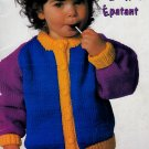 BRIGHT DELIGHTS KIDS KNITS SIZES 1 TO 3 PATONS 694 KNITTING WORSTED