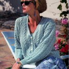 WARM WEATHER CARDIGANS IN PEARL, COTTON & SUPERSOFT PATONS #685 GORGEOUS