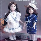 SCHOOL DAYS HTF CROCHET DOLL DRESSES # 8402 SCHOOL OF AMERICAN NEEDLEWORK OOP
