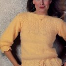 MISTY KNITS BEEHIVE 431 CARDIGAN PULLOVER JACKET HAT SCARF CROCHET VEST