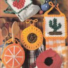 LEISURE ARTS 2823 CROCHET TOWEL TOPPERS - FLOWERS & FRUIT!