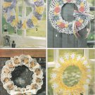 LOVELY WREATHS TO CROCHET ALL SEASON AND CHRISTMAS DECOR LEISURE ARTS 2567