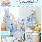 MCCALLS DISH TOWEL DUST BUNNIES! FABRIC CRAFT WREATH SACHET BASKET DOLLS MAGNET+
