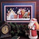 CHRISTMAS! MAIN ST. CHILD SANTA PANSY KISSMOOSE LOVE CROSS STITCH MAG. NOV. '90