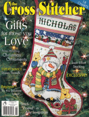 CROSS STITCHER CHRISTMAS 18 CHARTS ORNAMENTS AM. BEAUTY ROSE SAMPLERS PILLOWS