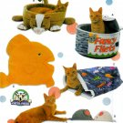 FUN CAT BEDS, FISH PILLOWS, CATNIP MICE, SACK PATTERNS SIMPLICITY 5233 UNCUT OOP