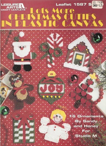 MORE CHRISTMAS CUTIES - ORNAMENTS PLASTIC CANVAS LEISURE ARTS 1587 SANTA ANGEL