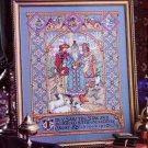 TREASURES IN NEEDLEWORK CROSS STITCH FILLET CROCHET 3 KINGS ANIMAL PILLOWS BH &G