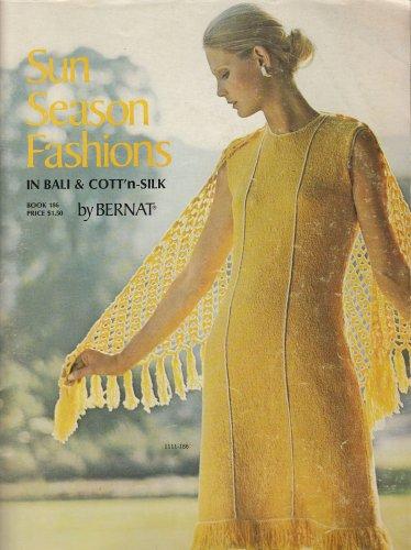 KNIT CROCHET BERNAT SUN SEASON FASHIONS BIKINI DRESSES TOPS SUITS MEN ALSO 46 PG