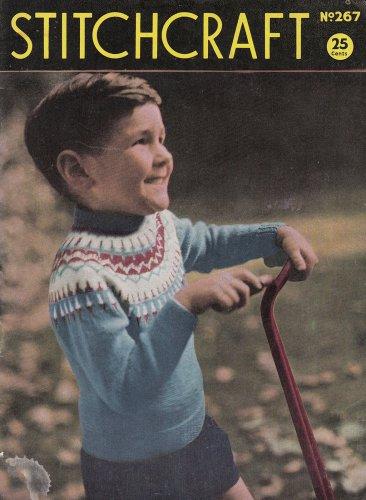 1956 STITCHCRAFT no. 267 olde ads NEEDLEWORK CROCHET KNIT EMBROIDER MAGAZINE