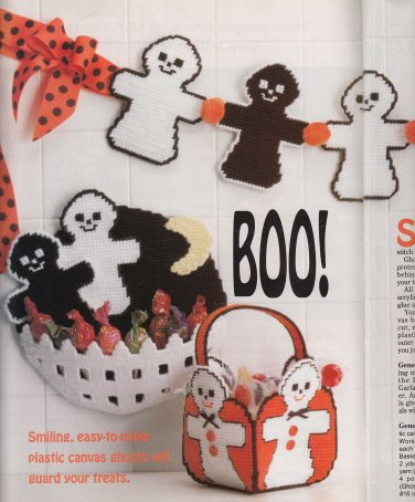 HALLOWEEN SEW KNIT X STITCH CAT PLASTIC CANVAS STAIN GLASS WEAVING CRAFTS PLUS