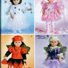 "18"" DOLL PATTERN FAIRY COSTUMES MCCALL 4741 AMERICAN GIRL OOP UNCUT MINT"